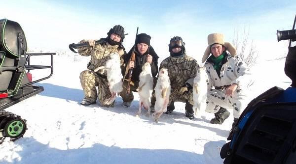 Коллективная охота на зайцев