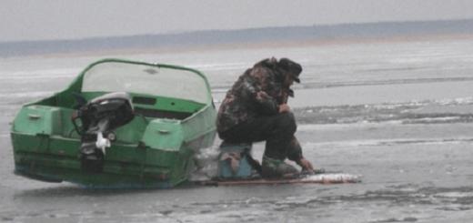 Рыбалка зимой на лодке