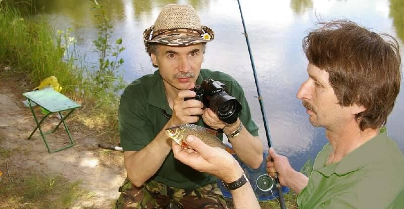 Фотосъемка на рыбалке