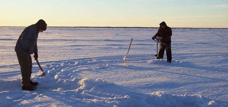 Рыбалка на Ладожском озере зимой