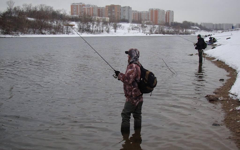 Ловля на открытой воде зимой