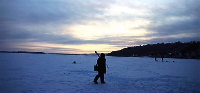 Зимняя рыбалка на Павленском озере