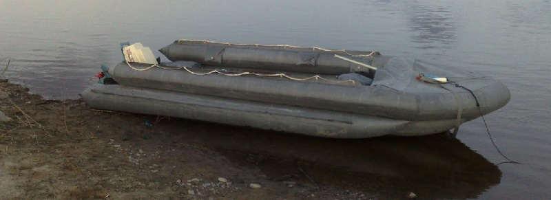 Надувная лодка СНЛ-8 из ПВХ для рыбалки