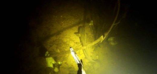 Ночная подводная охота на судака