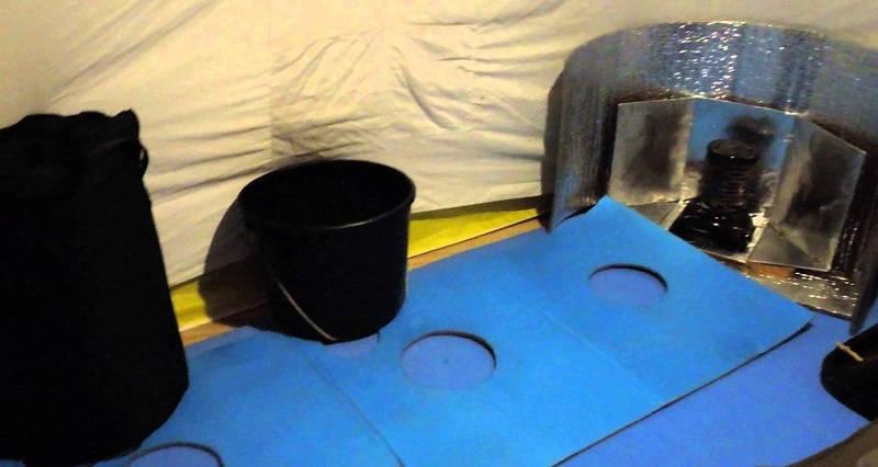 Оборудование палатки для зимней рыбалки