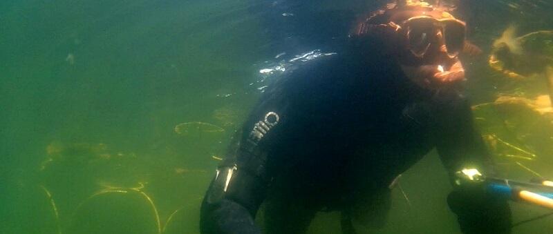 Подводная охота на озере Глубоком