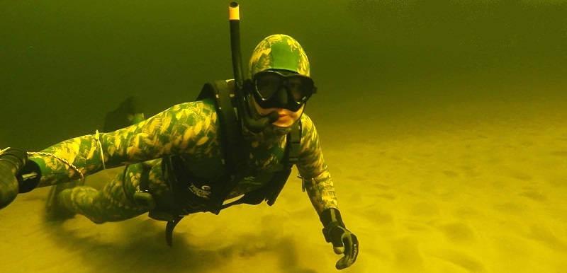Подводная охота в марте на Волге