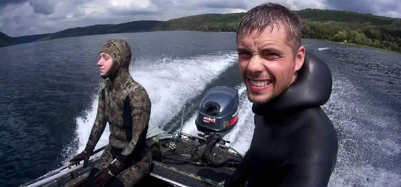 Подводная охота на Днестре