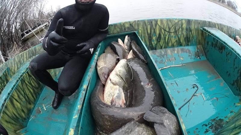 Подводная охота на Нижней Волге