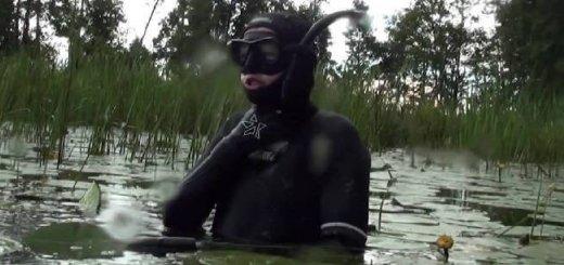 Подводная охота на Укромном озере