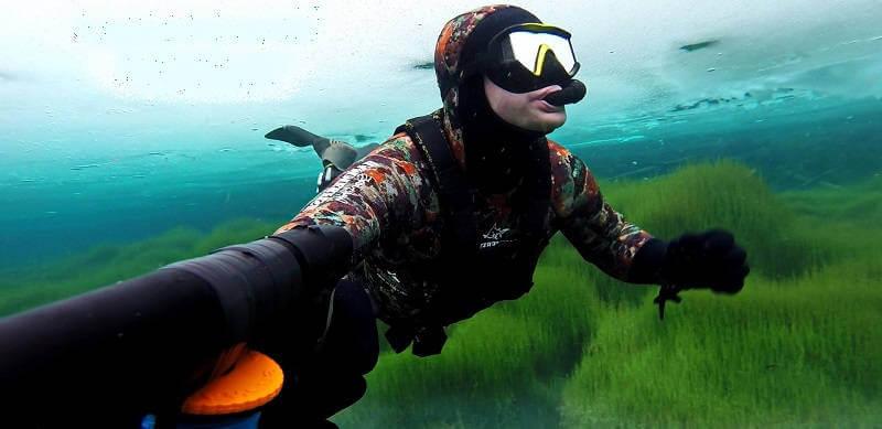 Подводная охота на Суводьском озере