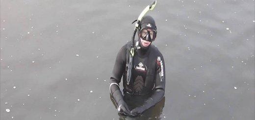 Подводная охота зимой на сома