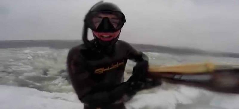 Подводная охота зимой на Волге