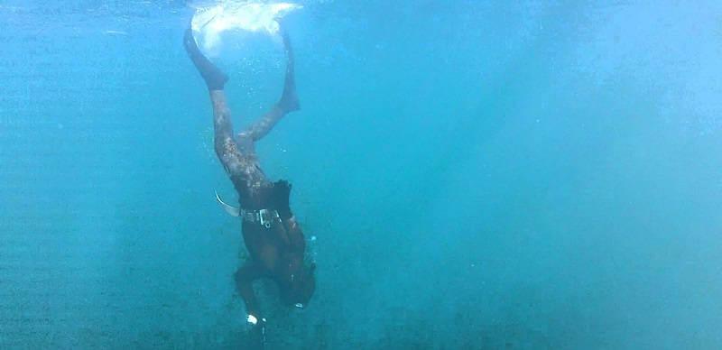 Подводная охота на Черном море зимой