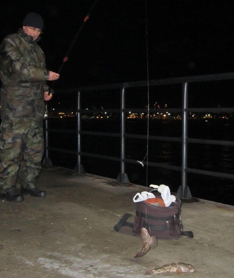 Ловля бычка ночью на Черном море