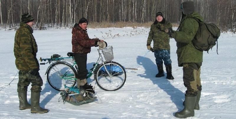 Ловля с весеннего льда