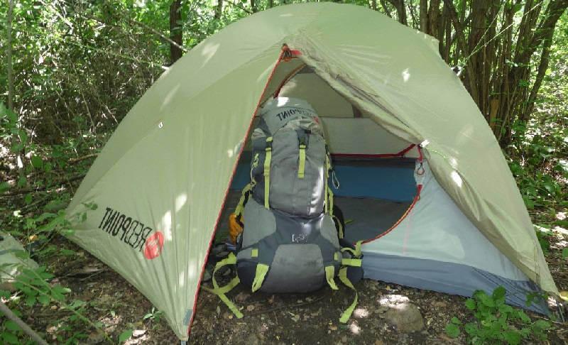 Рюкзак и палатка