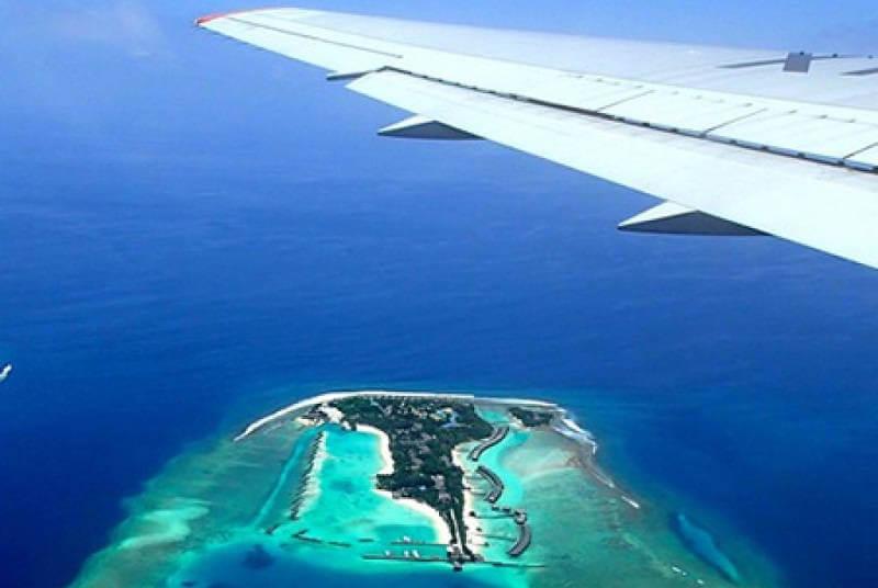 Время полета до Мальдив