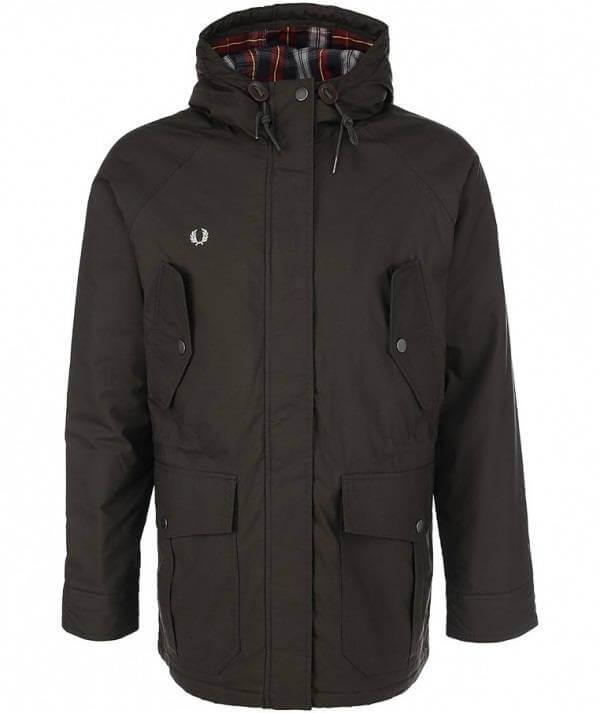 куртка парка фред перри черная