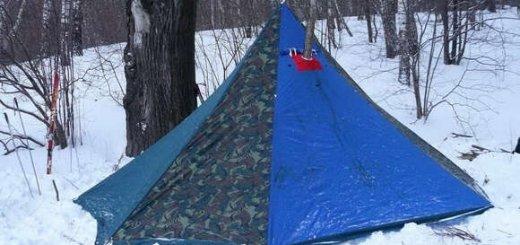 Охота зимой с палаткой