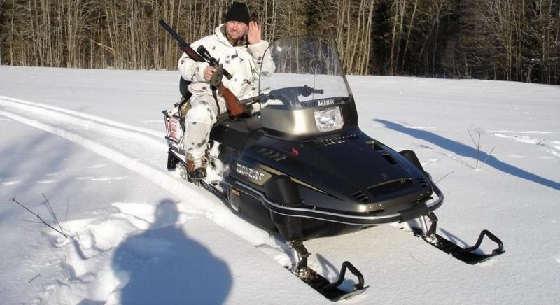 Охота на снегоходе