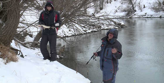 Видео ловли зимой на спиннинг