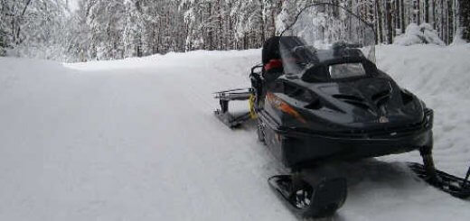 Охота с применением снегохода