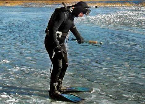 Снаряжение для зимней подводной охоты