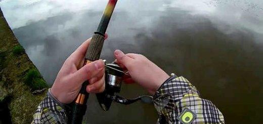 Весенняя ловля на реке видео