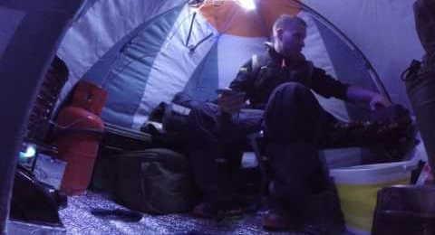 Зимняя рыбалка с палаткой с ночевкой
