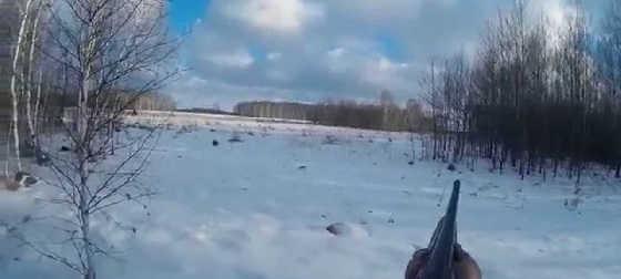 Зимняя охота в Сибири