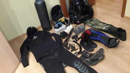 Недорогой комплект снаряжения для подводного охотника видео