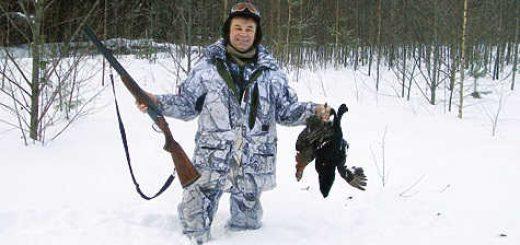 Охота на тетерева по снегу видео