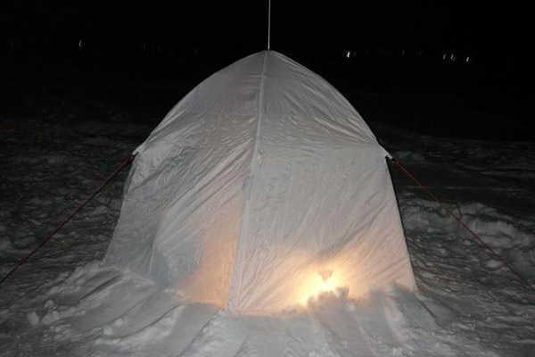 Рыбалка зимой ночью