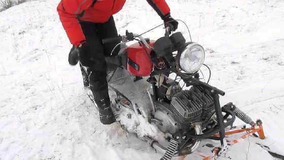 Самодельный снегоход видео