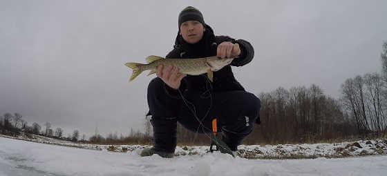 Зимняя ловля щуки на Волге