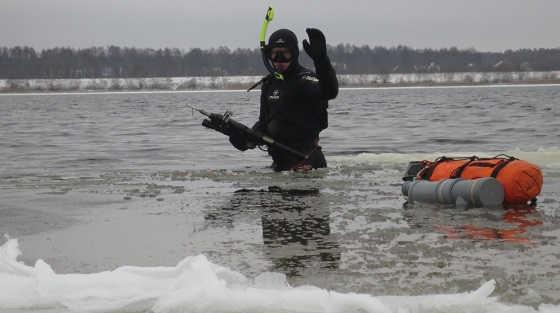 Подводная охота на Нижней Волге видео