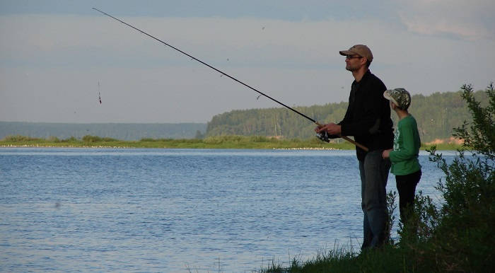 Рыбалка на Волге возле Каспия