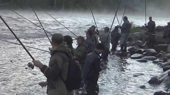 Ловля горбуши на Умба реке видео
