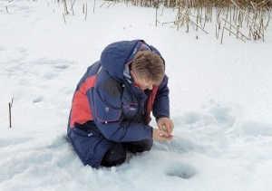 Ловля на мели зимой видео