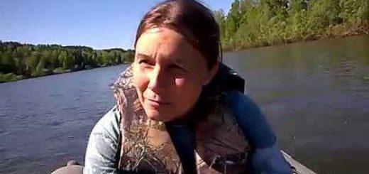 На рыбалку с женой видео
