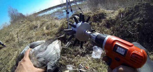 Насадка для ощипывания птицы видео