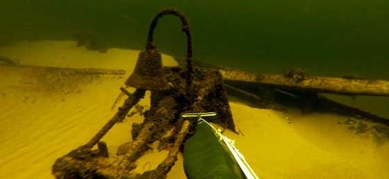 Подводная охота: затонувшие корабли видео