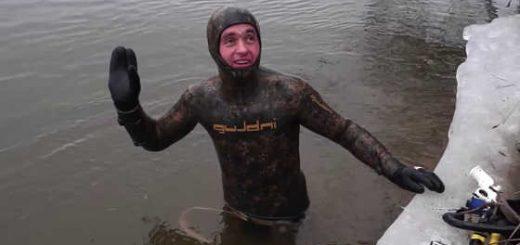 Подводная охота в Астрахани весной видео