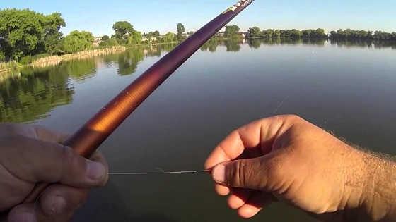 Летняя рыбалка на поплавочную удочку видео
