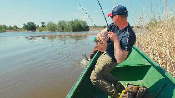 Ловля рыбы в красивейших местах Астрахани видео