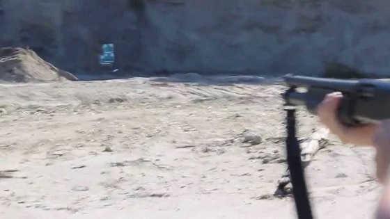 Выстрел из ружья со 100 метров видео