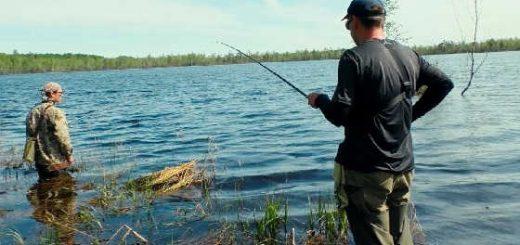 Рыбалка на затерянном в лесу озере видео