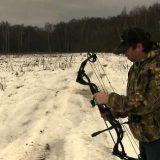 Стрельба из арбалета на охоте видео