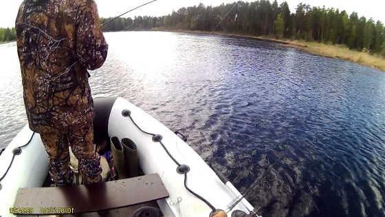 Рыбалка на спиннинг с лодки видео